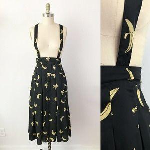English Factory Banana Pleated Suspender Skirt